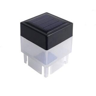 Black Plastic Solar-powered Multidirectional Fence Post Light