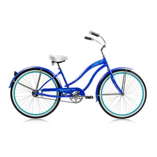 26-inch Rover Dark Blue Single-speed Beach Cruiser
