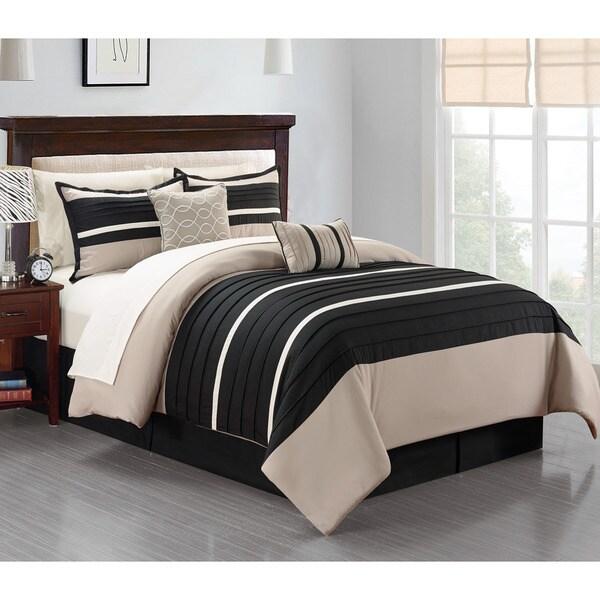 Daytona Black 10-piece Bed-in-Bag