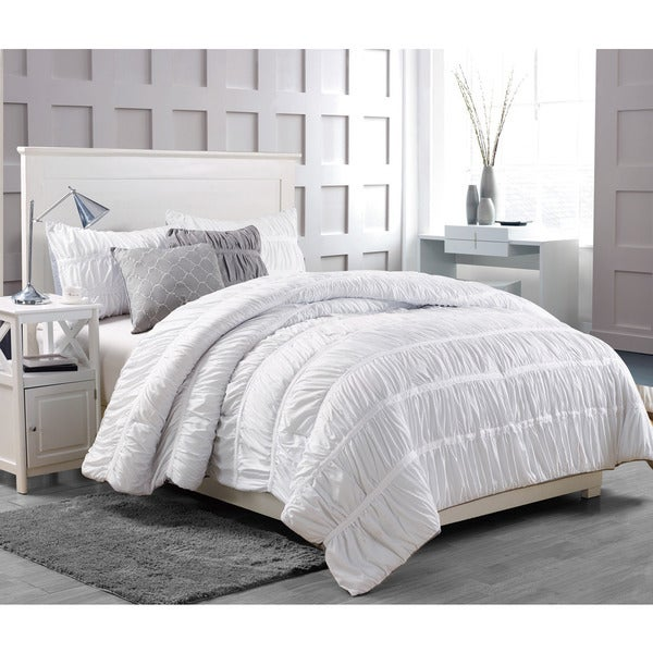 Greenwish 5-piece White Comforter Set