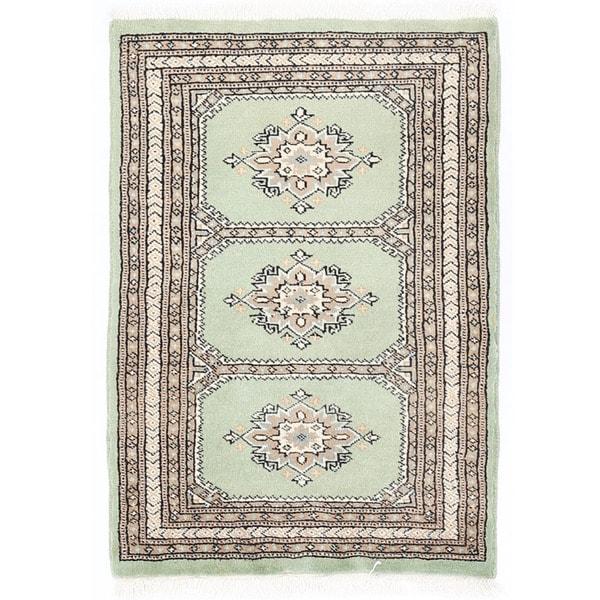 Handmade Herat Oriental Pakistani Bokhara Wool Rug - 2'1 x 3' (Pakistan)