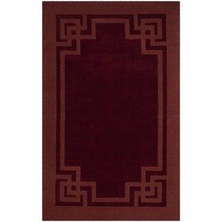 Martha Stewart by Safavieh Deco Frame Vermillion Wool Rug (5' x 8')