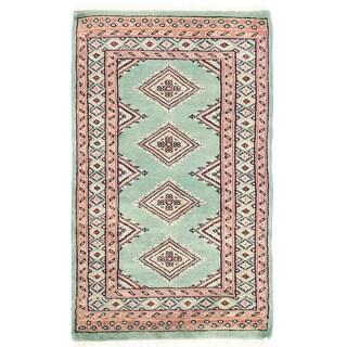 Herat Oriental Pakistani Hand-knotted Bokhara Wool Rug (1'11 x 3'3)