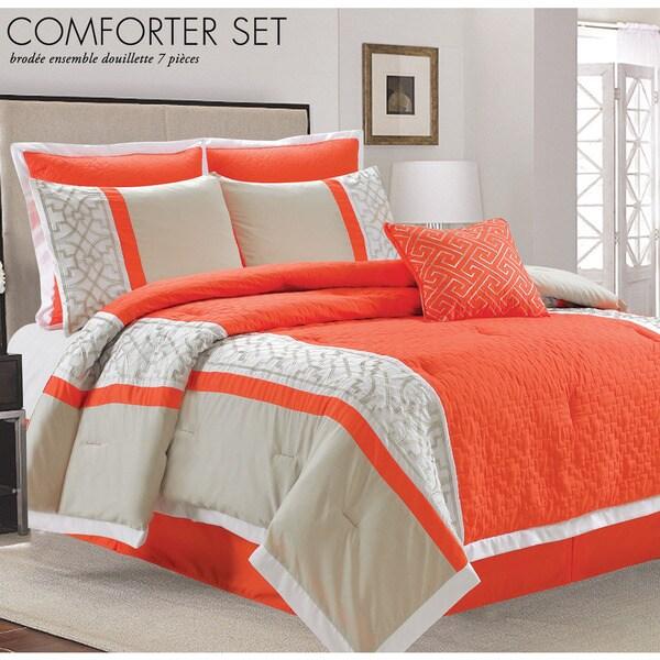 Lazio Coral 7-piece Comforter Set