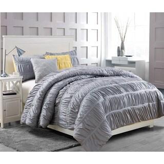 Greenwish Silver 5-piece Comforter Set