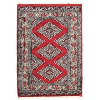 Herat Oriental Pakistani Hand-knotted Bokhara Wool Rug (2'1 x 3')