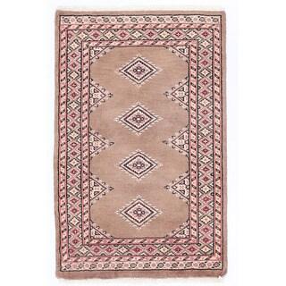 Handmade One-of-a-Kind Bokhara Wool Rug (Pakistan) - 2' x 3'2