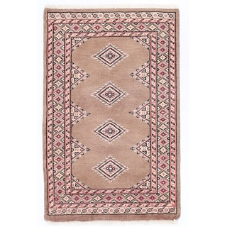 Herat Oriental Pakistani Hand-knotted Bokhara Wool Rug (2' x 3'2)