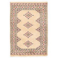 Handmade Herat Oriental Pakistani Bokhara Wool Rug - 2' x 2'11 (Pakistan)