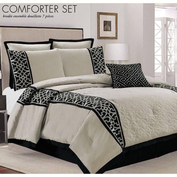 Lazio Taupe 7-piece Comforter Set
