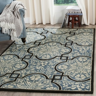 Martha Stewart by Safavieh French Painted Avignon Kerry Blue Wool Rug (4' x 6')