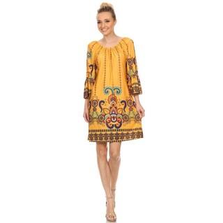 MOA Collection Aztec Women's Paisley Pattern Dress