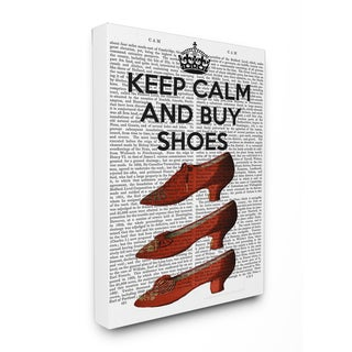 'Keep Calm and Buy Shoes' Stretched Canvas Wall Art