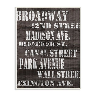 Distressed 'New York City Streets' Wooden Stretched Canvas Wall Art