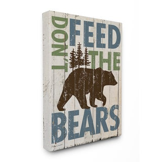 'Don't Feed the Bears' Stretched Canvas Wall Art