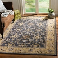 Safavieh Hand-hooked Easy to Care Grey/ Cream Rug - 6' x 9'