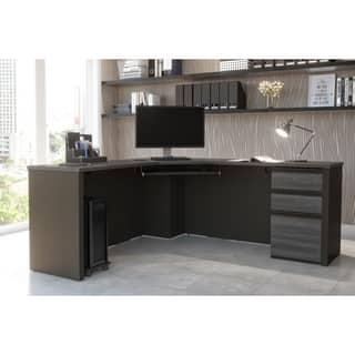 Bestar Prestige + Corner Desk including one pedestal|https://ak1.ostkcdn.com/images/products/11877849/P18775338.jpg?impolicy=medium
