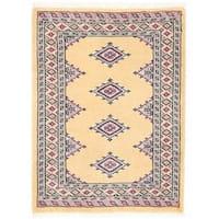 Handmade Herat Oriental Pakistani Bokhara Wool Rug - 2'2 x 2'11 (Pakistan)