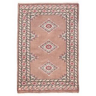 Herat Oriental Pakistani Hand-knotted Bokhara Wool Rug (2'2 x 3')