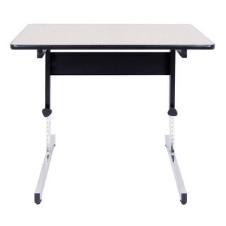 Offex Black/Spatter Grey Height-adjustable All-purpose Adaptable Table