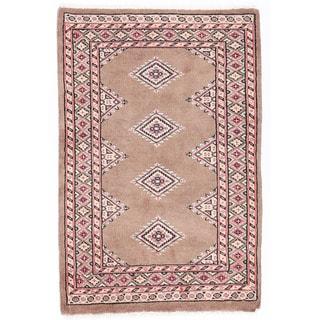 Handmade One-of-a-Kind Bokhara Wool Rug (Pakistan) - 2' x 3'1