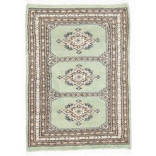 Herat Oriental Pakistani Hand-knotted Bokhara Wool Rug (2' x 2'11)