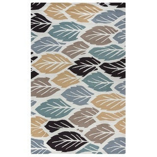 Rizzy Home Off White Azzura HIll Indoor/Outdoor Nature Area Rug (5' x 7'6)