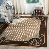 Martha Stewart by Safavieh Scrollwork Brown Viscose Rug - 7'10 x 11'2