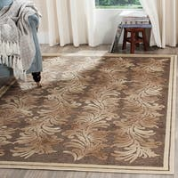 Martha Stewart by Safavieh Plume Stripe Brown Viscose Rug - 7'10 x 11'2