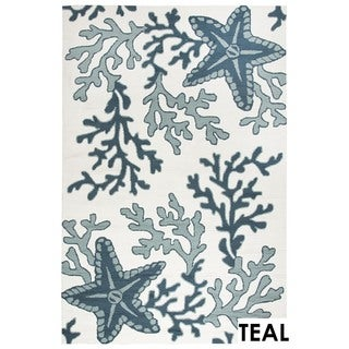 Rizzy Home Tan Azzura HIll Indoor/Outdoor Coral Accent Rug - 2' x 3'