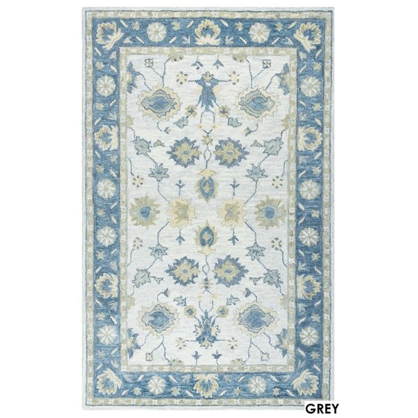 Rizzy Home Natural Leone Collection Border Accent Rug (2' x 3') - 2' x 3'
