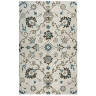 Rizzy Home Mocha Leone Ornamental Accent Rug (2' x 3')