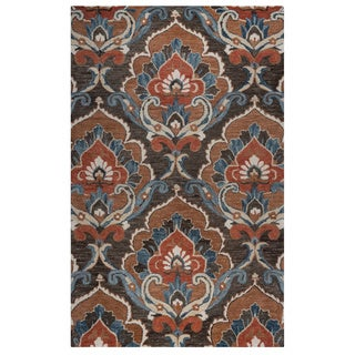 Rizzy Home Mocha Leone Collection Ornamental Accent Rug (2' x 3')