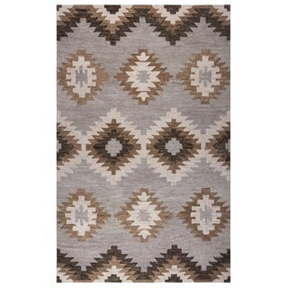 Rizzy Home Blue Leone Collection Geometric Accent Rug (2' x 3')