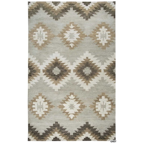Rizzy Home Blue Leone Collection Geometric Accent Rug - 2' x 3'