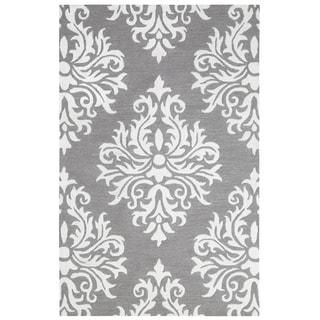 Rizzy Home Grey Eden Harbor Ornamental Accent Rug (2' x 3')