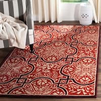 Martha Stewart by Safavieh French Painted Avignon Vermillion Wool Rug - 9' x 12'