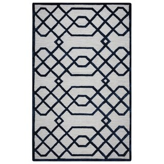 Rizzy Home Off-white Monroe Collection Hand-Sheared Transitional Area Rug - 3' x 5'