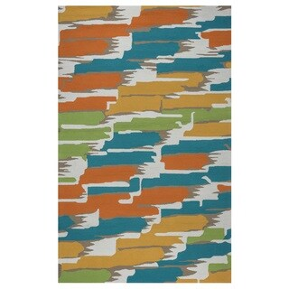 Rizzy Home Multi Azzura HIll Indoor/Outdoor Abstract Area Rug (3'6 x 5'6)