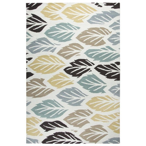 """Rizzy Home Multi Azzura HIll Indoor/Outdoor Feathered Area Rug (3'6 x 5'6) - 3'6"""" x 5'6"""""""