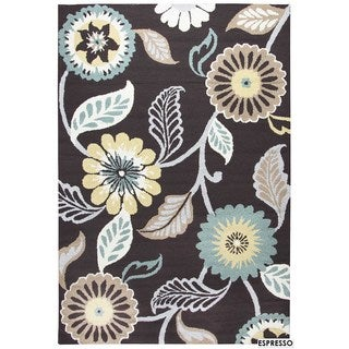 Rizzy Home Grey Azzura HIll Floral Accent Rug (2' x 3') - 2' x 3'