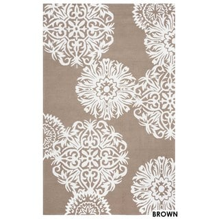 Rizzy Home Grey Azzura Hill Floral Area Rug (3'6 x 5'6)