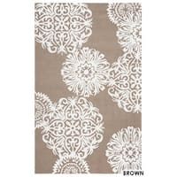 Rizzy Home Grey Azzura Hill Floral Area Rug (3'6 x 5'6) - 3'6 x 5'6
