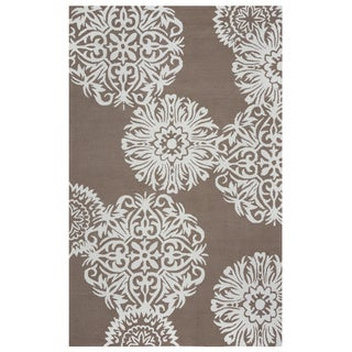 Rizzy Home Grey Azzura HIll Indoor/Outdoor Floral Area Rug (5' x 7'6)