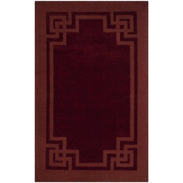 Martha Stewart by Safavieh Deco Frame Vermillion Wool Rug - 8' x 10'