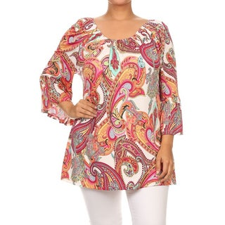 MOA Collection Plus Size Women's Paisley Tunic