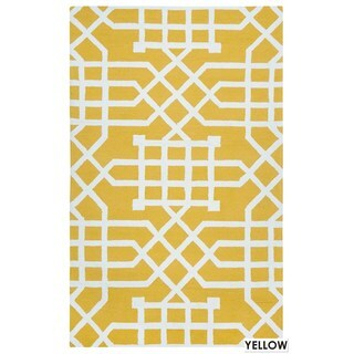 Rizzy Home Grey Azzura HIll Indoor/Outdoor Geometric Area Rug (3'6 x 5'6)