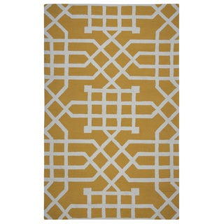 Rizzy Home Grey Azzura HIll Geometric Area Rug (5' x 7'6)