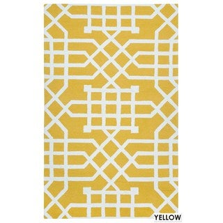 Rizzy Home Teal Azzura HIll Indoor/Outdoor Geometric Accent Rug (2' x 3')