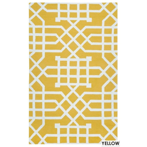 Rizzy Home Teal Azzura HIll Indoor Outdoor Geometric